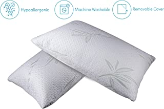 Home Sweet Home Dreams Inc One Piece Hypoallergenic Bamboo Memory Foam Bed Pillow (Standard/Queen)