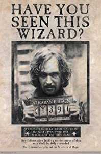 Trends International Wizarding World: Harry Potter-Sirius Black Wanted Wall Poster, 22.375