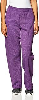 Hanes Women's EcoSmart Sweatpant – Regular and Petite Lengths, Violet Splendor Heather, Small Petite