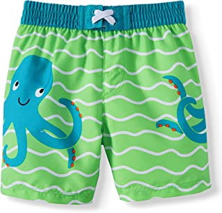 Wonder Nation Infant Boys Octopus Green Rising Swim Short Trunk