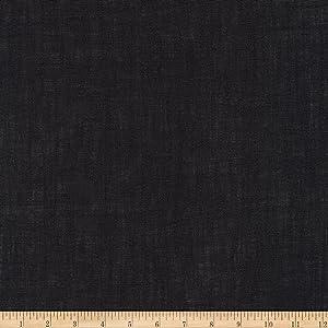 Robert Kaufman Limerick 100% Linen Fabric by The Yard, Black