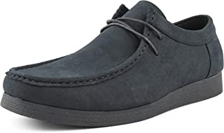 Original Jason2 Low Chukka Boots for Men - Men's Low Top Casual Boots Manmade Suede Chukka Boots - Casual Boots Lace Up Crepe Rubber Sole - Mens Moc Toe Chukka Boots