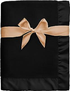 پتو بچه گانه پروانه گولیم با 2 اینچ ساتن تریم نرم پشمی مخمل خواب دار پسرانه و دخترانه هدیه برای نوزادان مشکی 30x40 اینچ
