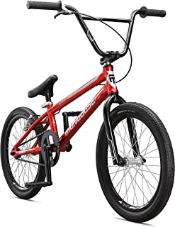 Mongoose Title Pro XXL BMX Race Bike with 20-Inch Wheels in Red for Beginner to Intermediate Riders, Featuring Lightweight Tectonic T1 Aluminum Frame and Internal Cable Routing
