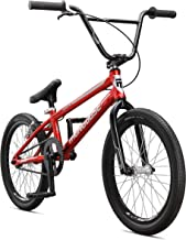 Mongoose Title Pro XL BMX Race Bike with 20-Inch Wheels in Red for Beginner to Intermediate Riders, Featuring Lightweight Tectonic T1 Aluminum Frame and Internal Cable Routing