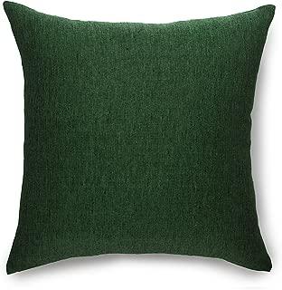 Solino Home Linen Pillow Cover – 18 x 18 Inch,100% European Flax Throw Pillow Case Athena – Decorative Pillow Case, Forest Green
