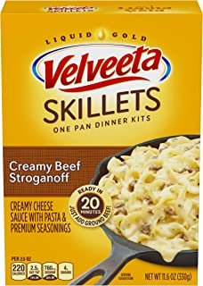 Velveeta Skillets Creamy Beef Stroganoff Dinner Kit, 11.6 oz Box