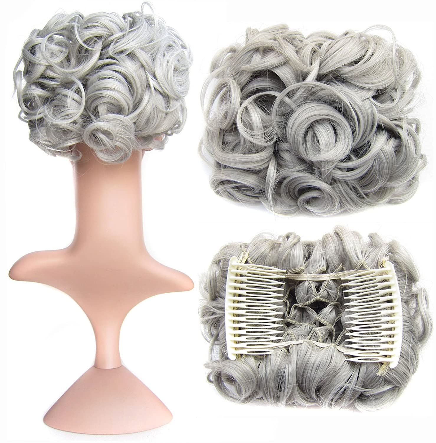 SWACC Short Messy Curly Dish favorite Hair Extension 2021 autumn and winter new Bun Easy hai Stretch