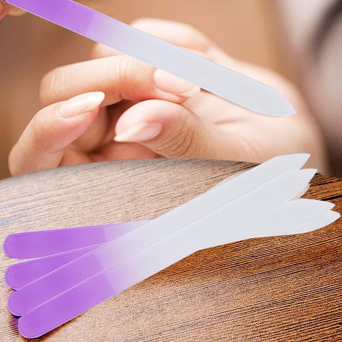 鳩ポテトネックレスBeito 爪ヤスリ ガラスネイルファイル 両面 爪やすり 爪磨き ネイルケア マニキュアファイル 4個組