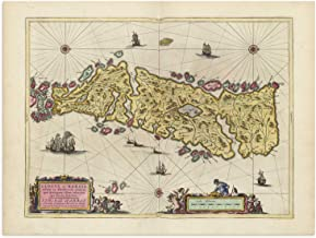 The Blaeu Prints | Isle of Harris, Scotland - Historical Map Print from Antique Atlas by Joan Blaeu - Old Map Shows: Steornabhagh, an Tairbeart, Isle of Lewis