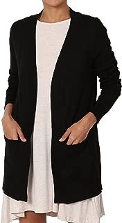 TheMogan Women's Boyfriend Relaxed Fit Open Front Pockets Knit Sweater Cardigan