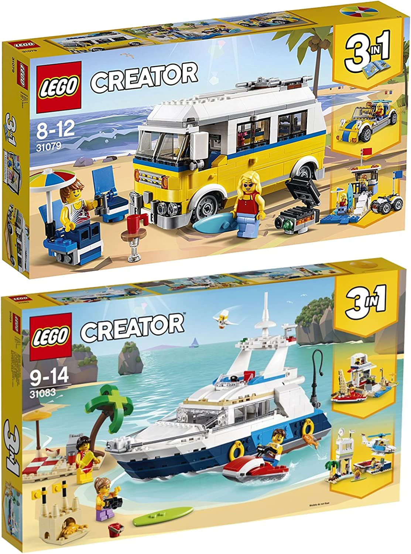Lego Creator 2er Set 31083 31079 Yacht + Surfermobil