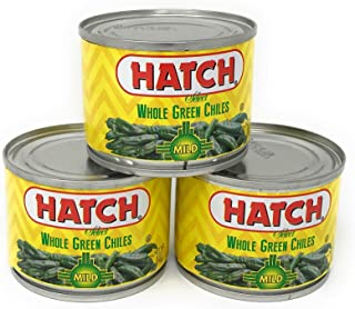 Hatch Mild Whole Green Chiles 4 oz (Pack of 3)