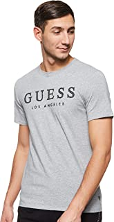 GUESS Men's Crew Neck Small Sleeve Named T-Shirt