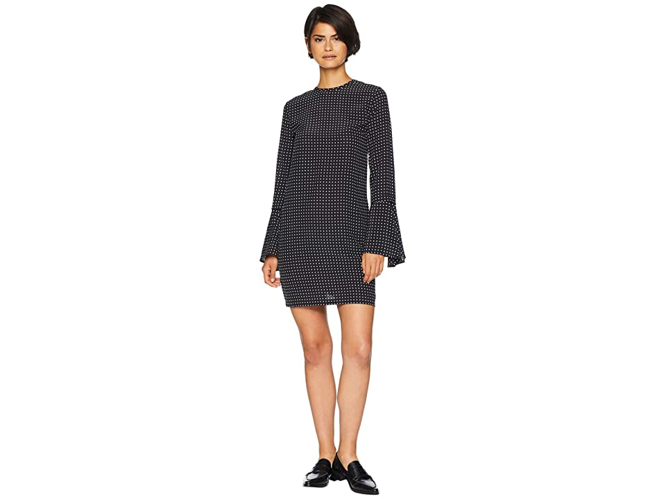 EQUIPMENT Mari Dress (True Black/Bright White) Women