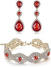 Paxuan Womens Silver Plated White Clear Rhinestone Crystal Wedding Bridal Bridesmaid Bracelet Jewelry Link Tennis Bracelet