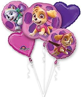 Amscan International 3482801 Foil Balloon, Group,Bouquet:Paw Patrol-Skye & Ev