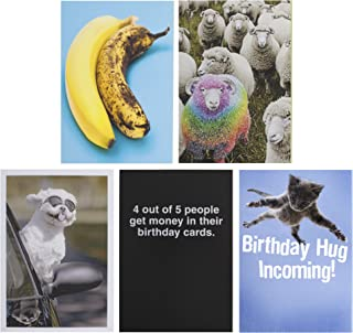 Hallmark Shoebox Funny Birthday Cards Assortment (5 Cards with Envelopes)