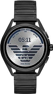 Emporio Armani Men's Multicolor Dial Stainless Steel Digital Smartwatch - ART5029