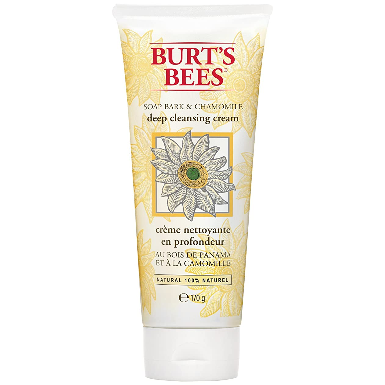 崖発見する農奴バートのBees?ソープバーク??&カモミールディープクレンジングクリーム170グラム (Burt's Bees) (x6) - Burt's Bees? Soap Bark & Chamomile Deep Cleansing Cream 170g (Pack of 6) [並行輸入品]