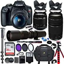 Canon EOS Rebel T7 DSLR Camera with 18-55mm is II Lens Bundle + Canon EF 75-300mm f/4-5.6..
