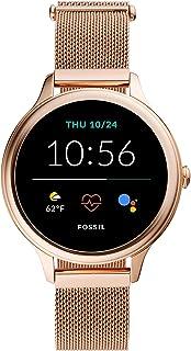 Fossil Montre connectée 5ème génération + 5ème Génération E avec Haut parleur, Rythme cardiaque, GPS, NFC, et Notification...