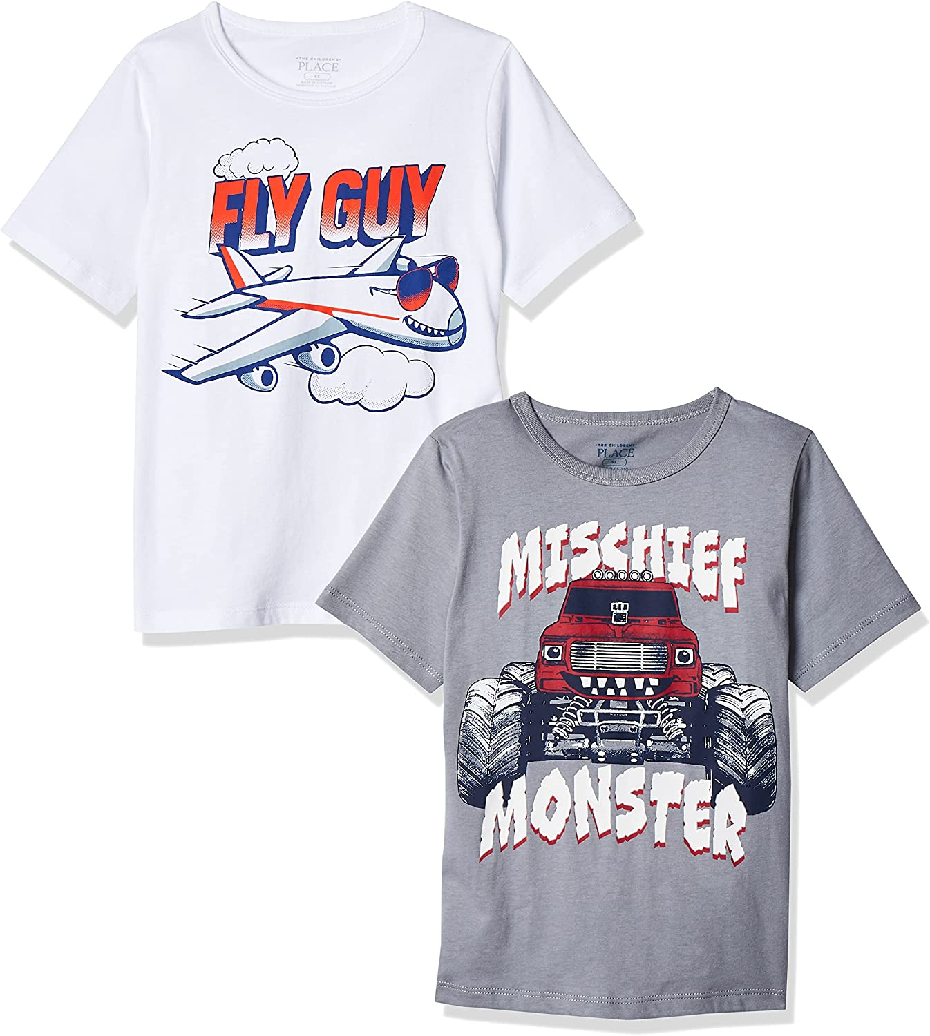 The Children's Place Baby and Toddler Boys Transportation Graphic Tee 2-Pack