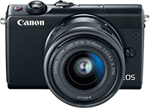 Canon M100 EF-M 15-45mm f/3.5-6.3 IS STM, Mirrorless Camera - Black