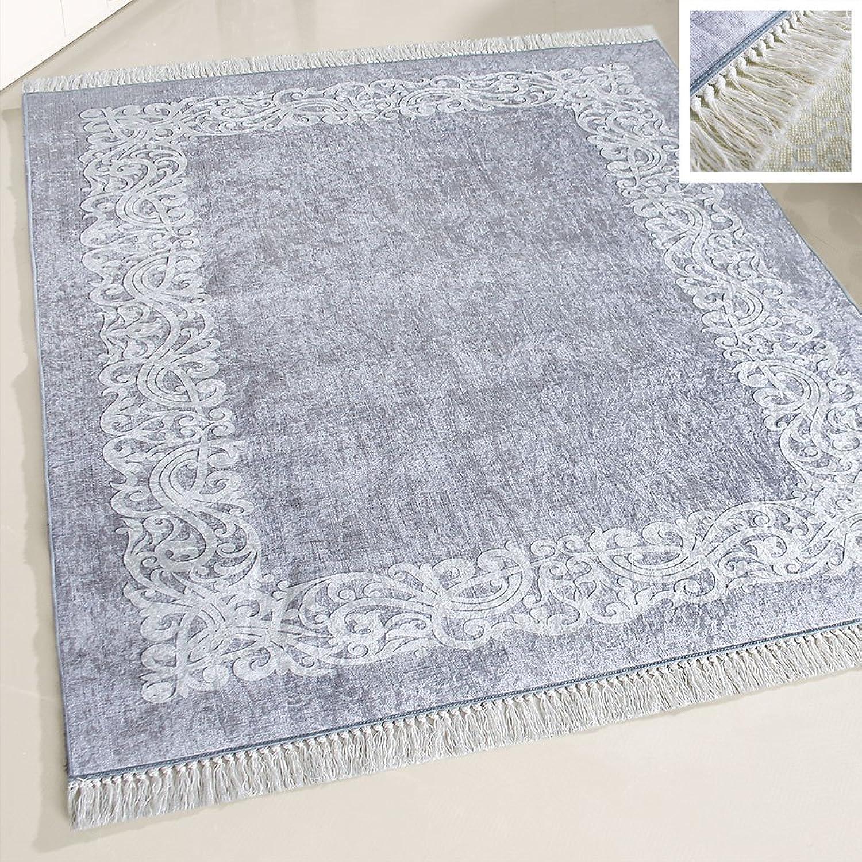 Mynes Home Teppich waschbar Bordüre rutschhemmend Anti ...