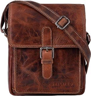 """STILORD Martinez"""" Kleine Umhängetasche Herren Leder Vintage Messenger Bag klein für 9,7 Zoll iPad Tablethülle Männer Handtasche Echtleder"""