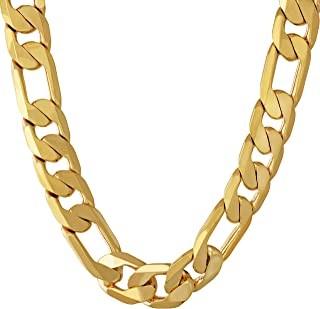 11mm Figaro Chain - 20X More Real 24k Plating Than Other...