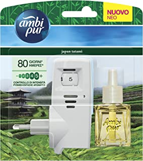 Ambi Pur Air Freshener with Electric Diffuser and refill Japan Tatami, 20 ml