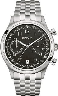 Bulova - 96B234 - Reloj para hombre de acero inoxidable con esfera negra