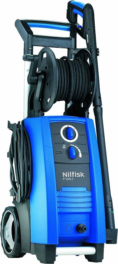 Nilfisk P 160.2-15 X-TRA Vertical Eléctrico 650, 570l/h 3300W Negro, Azul Limpiadora de alta presión o Hidrolimpiadora - Limpiador de alta presión (Vertical, Eléctrico, 15 m, 5 m, Negro, Azul, Aluminio)