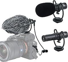 میکروفون ویدئویی تفنگ ساچمهای JJC SGM-V1، میکروفون میکروفن کاردیوئید میکروفون میکروفون با / شوک نصب، شیشه جلو اتومبیل خزدار، کندانسور الکتریک، کابل 3.5 میلی متری TRS TRRS، برای دوربین فیلمبرداری آندروید DSLR