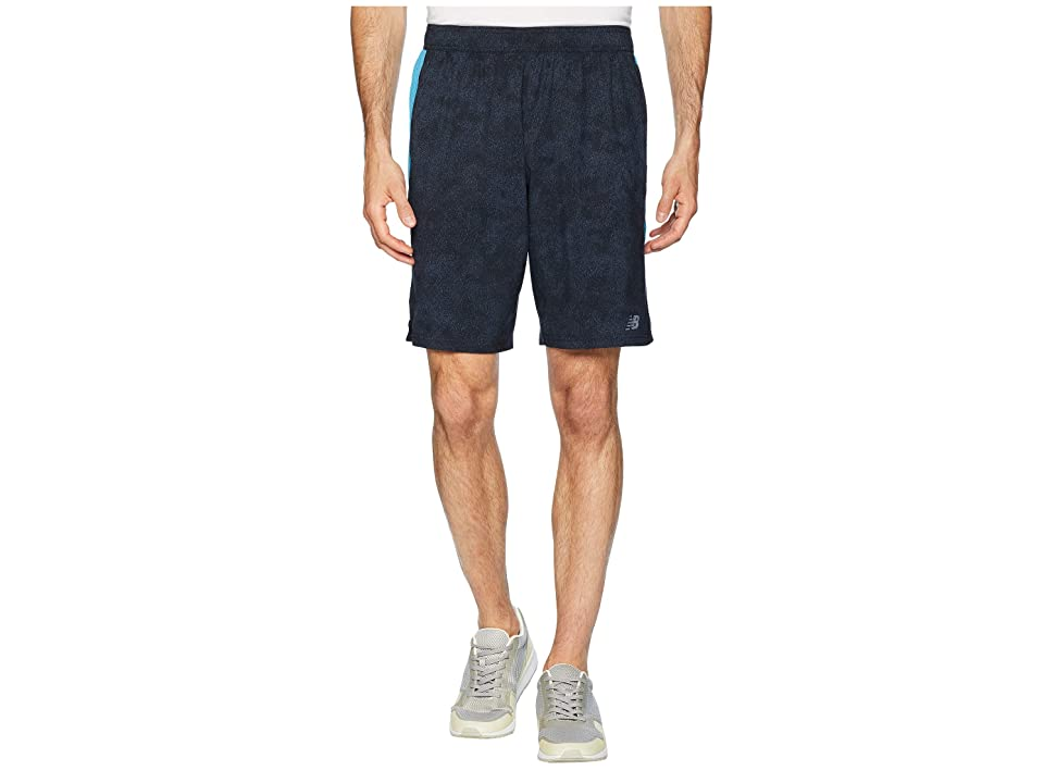 New Balance Printed Tenacity Woven Shorts (Petrol) Men