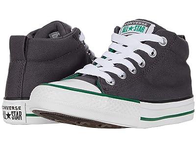 Converse Kids Chuck Taylor(r) All Star(r) Street Varsity (Little Kid/Big Kid) (Thunder Grey/White/Green) Boy
