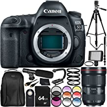 Canon EOS 5D Mark IV DSLR Camera with EF 16-35mm f/2.8L III USM Lens 30PC Accessory Bundle. Includes 64GB Memory Card + More