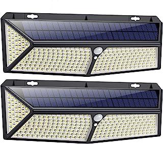 iPosible Lampe Solaire Extérieur 288 LED [2020 USB et Solaire Charge ] Lumière Solaire Etanche éclairage Solaire avec Déte...