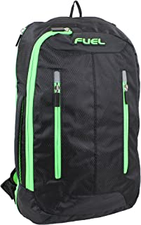 Active Crossbody Bag, Black with Green Accents