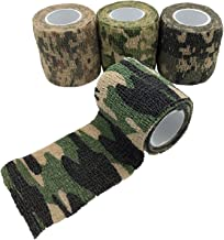 Okallo Products Camouflage Cohesive Tape - Roll of Sticky Stretch Camo Tape