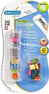 Rapesco Supaclip 40 Dispenser with 25 Multi Color Clips (RC4025MC)