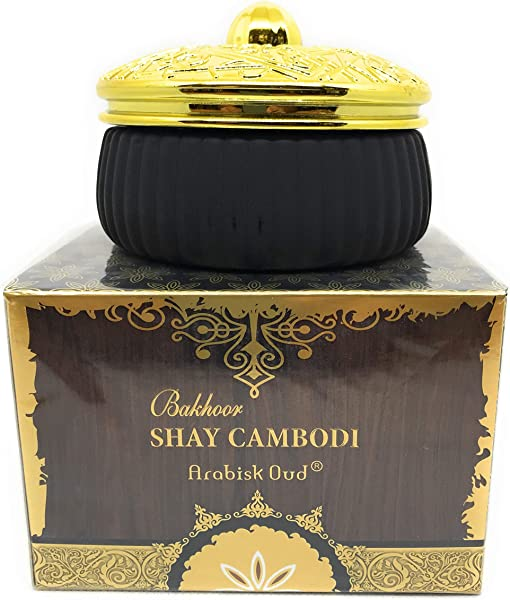 Bakhoor Shay Cambodi Exotic Arabic Incense Bukhoor Incienso 70 GMS Tablets By Surrati