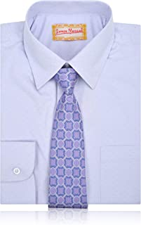 JAMES MORGAN Boys Polka Dot Dress Shirt with Curated Tie - Sizes 4-7