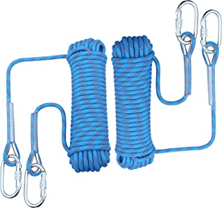 orgphys Rock Climbing Rope 2 Pack 10mm - 32 Feet Outdoor Safety High Strength Rappelling Rope for Hiking, Mountaineering, ...