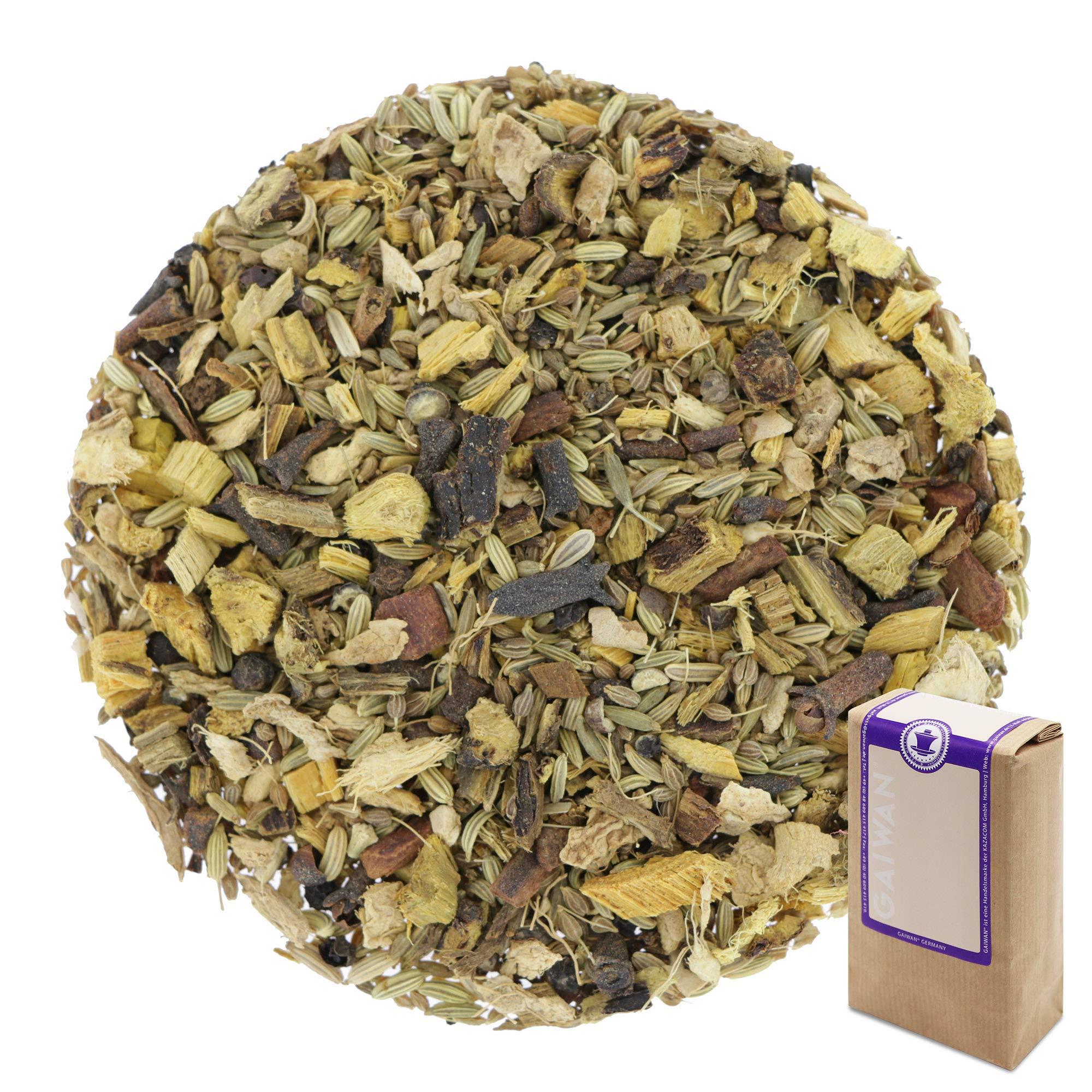 """Núm. 1200: Té de hierbas orgánico """"Chai dulce"""" - hojas sueltas ecológico - 250 g - GAIWAN® GERMANY - anís, hinojo, regaliz, pimienta negro, cassia, jengibre, clavel"""