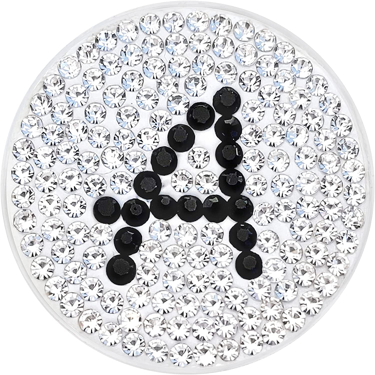Navika Initial Letter Monogram Micro Golf Crystal 5 ☆ Fixed price for sale very popular Ball Pave Mark