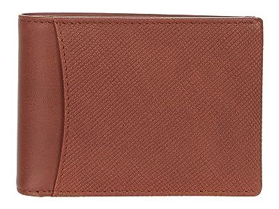 Bosca Small Bifold Wallet w/ Non-RF Blocking Pocket (Brown) Wallet Handbags