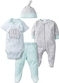 Baby Boys' 4-Piece Sleep 'N Play, Onesies, Pant and Cap