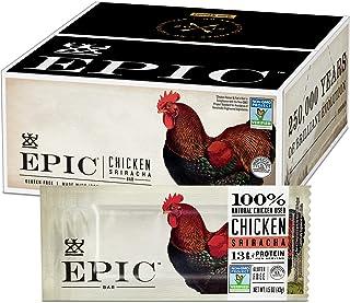 EPIC Chicken Sriracha Protein Bars, Whole 30, Keto Friendly, 12Ct Box 1.5oz bars